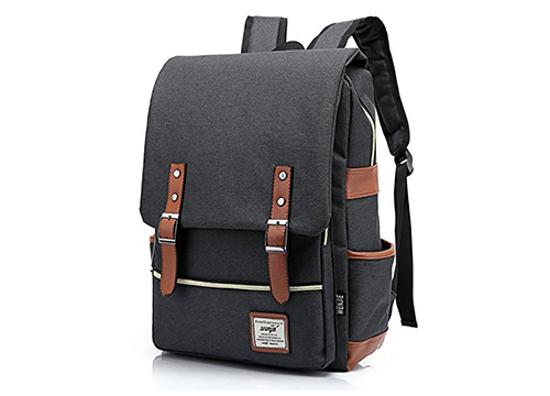 Furivy Unisex Oxford Retro Style Laptop Backpack College School Bag Student Daypack Rucksack: