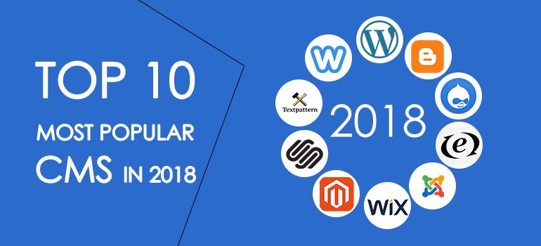 Top 10 Most popular CMS in 2018