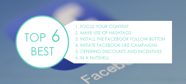 What you can do to get more Facebook followers.